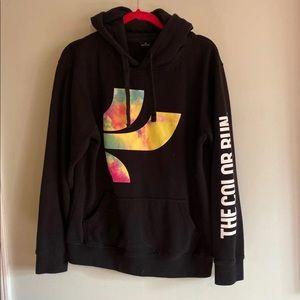 The color run black watercolor hoodie
